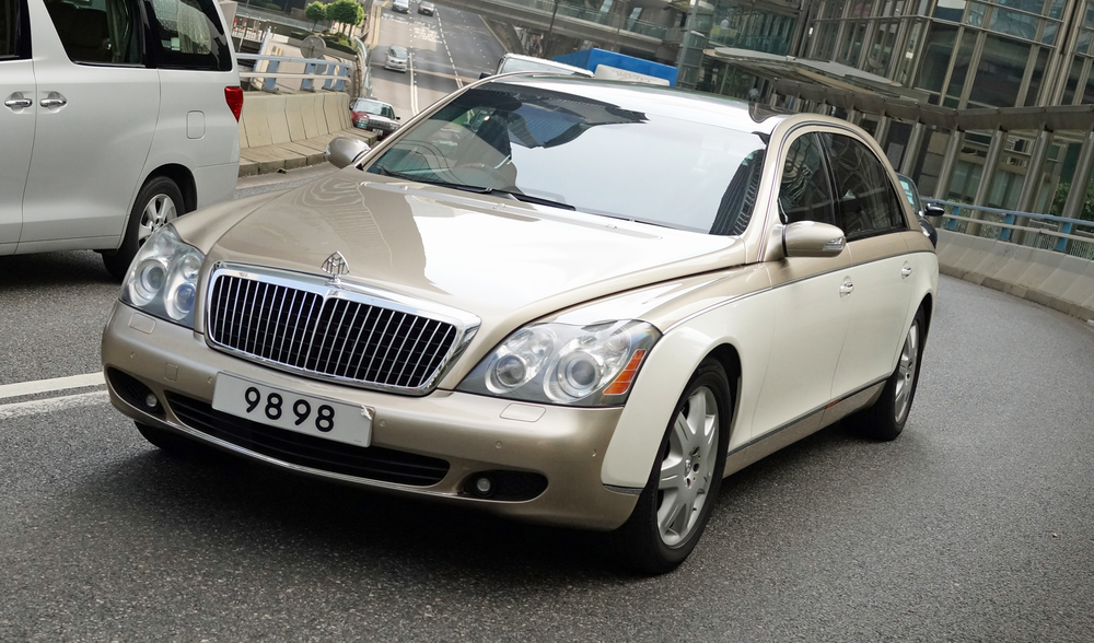 Mercedes Benz no longer make the Maybach but boy, what a car... it is a monster and is the first choice car for most of Hong Kong's billionaires. Note the very lucky number plate!