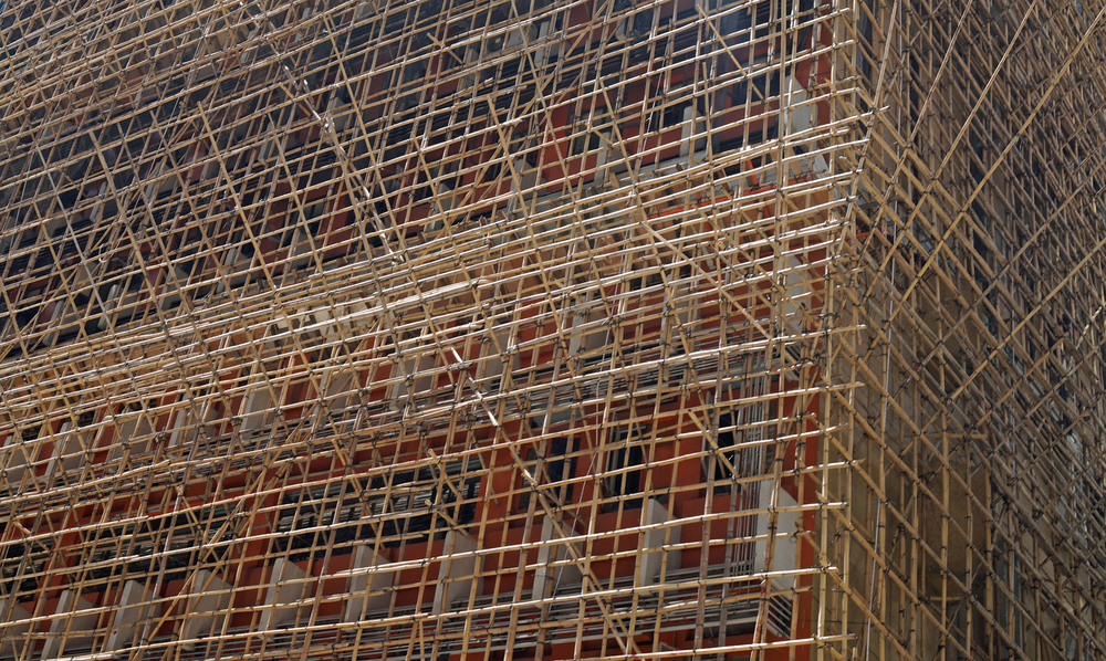 That would be bamboo scaffolding then....