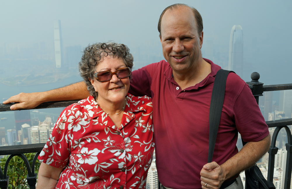 Kirk and Lisa enjoying the rather hazy view from Victoria Peak!