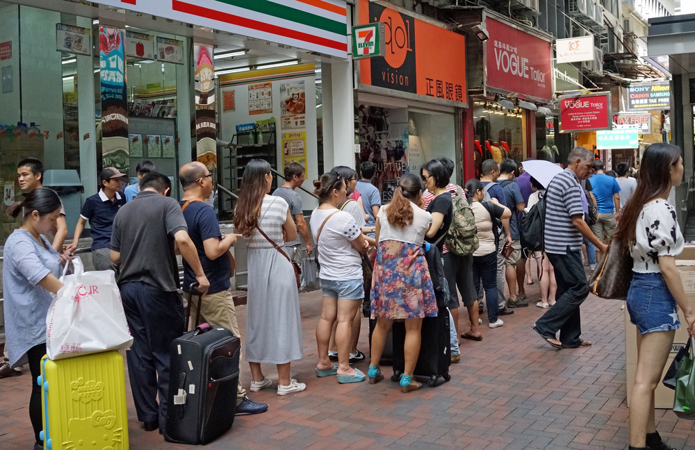 Jenny bakery in Hong Kong makes distinctly average butter cookies, they are not a patch on the very popular Danish cookies from Denmark but this does not stop Mainland Chinese Tourists lining up (a line of 200 / 300 is normal) to buy 20 tins (yes, tins) of cookies for resale back in China. It is all a bit odd