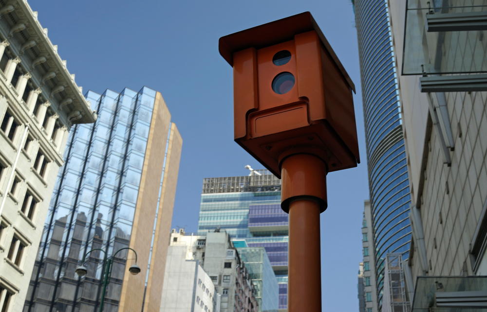 So now you know what a speed camera looks like in Hong Kong - this is on Nathan Road in Kowloon next to the Sheraton Hotel.