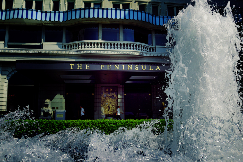 The iconic fountain in front of the iconic Peninsula Hotel - stop by for afternoon tea from 2pm -6pm every day