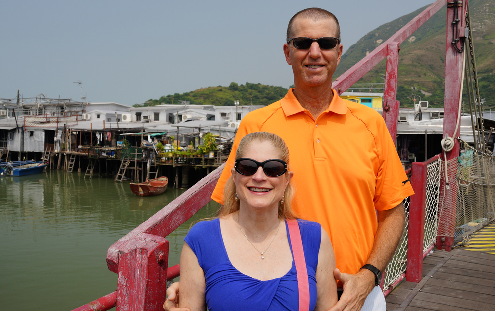 Jeff and Marion at Tai O Fishing Village -  go here for all my images of the Tai O Fishing Village