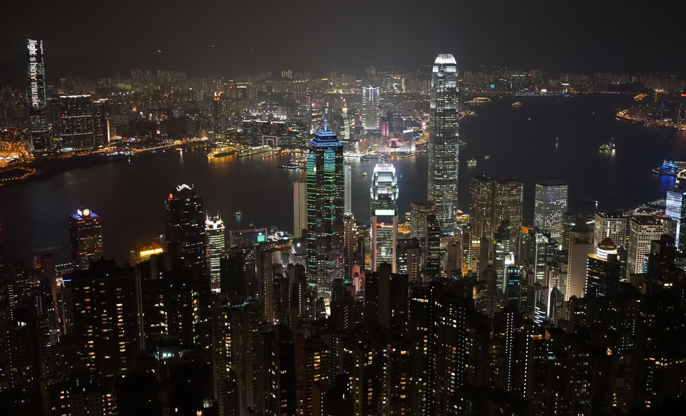 No set of Hong Kong by night images would be complete without a shot of the city by night from my spot at the Peak and this was taken hand held without a tripod! - image taken on October 8th 2014