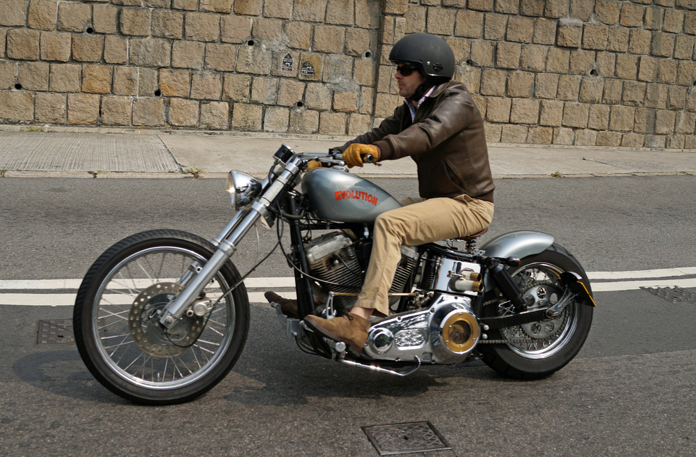 Steve McQueen cool - this is way cooler than wearing spandex and riding a bike with pedals!!