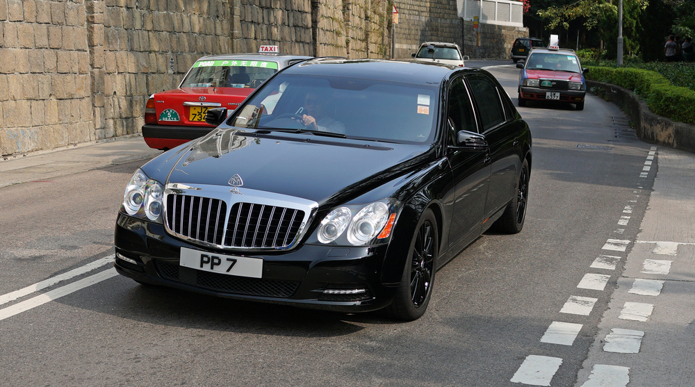 This is probably my favourite Maybach in Hong Kong.. pity they do not make it anymore. It is favoured by our billionaires but I have to say it is NOT discreet, this car is huge!  Go here for all my Maybach images
