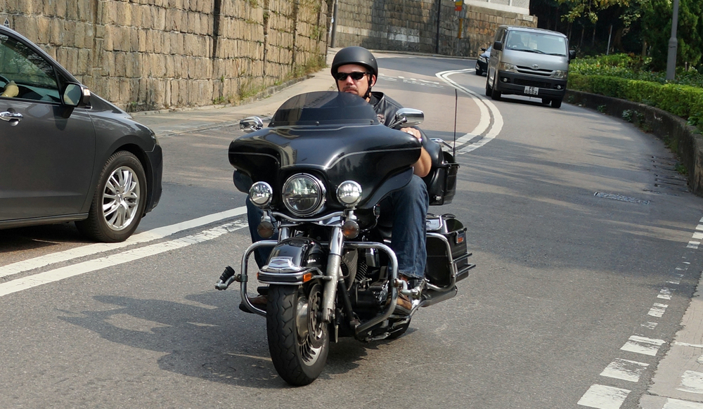 Sons of Anarchy Hong Kong style - cool bike, cool dude.