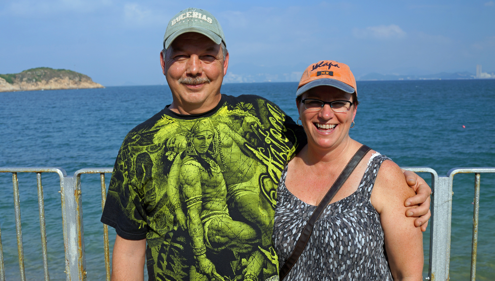 Viola and David enjoying the charms of Cheung Chau Island -