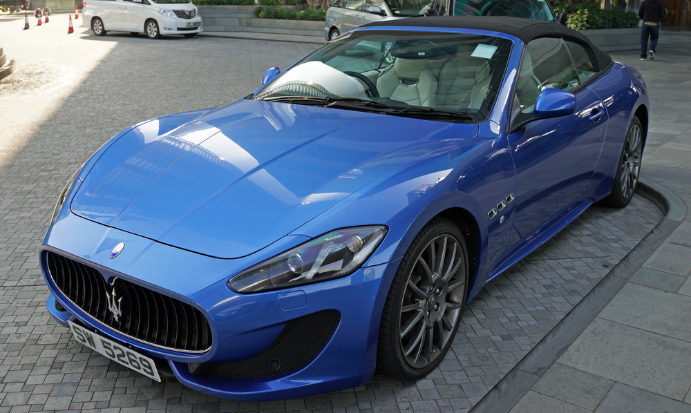 Love the colour of this rather splendid Maserati parked at the J W Marriott Hotel