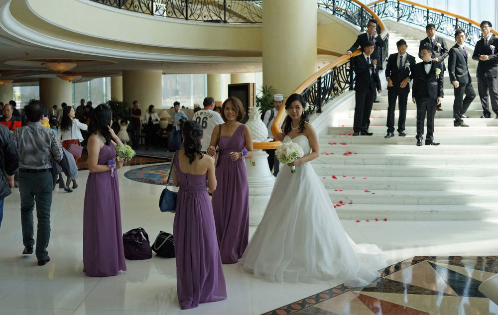 The Harbour Grand Kowloon Hotel in Hung Hom is a firm favourite with wedding parties (it has a gorgeous staircase and killer views)...