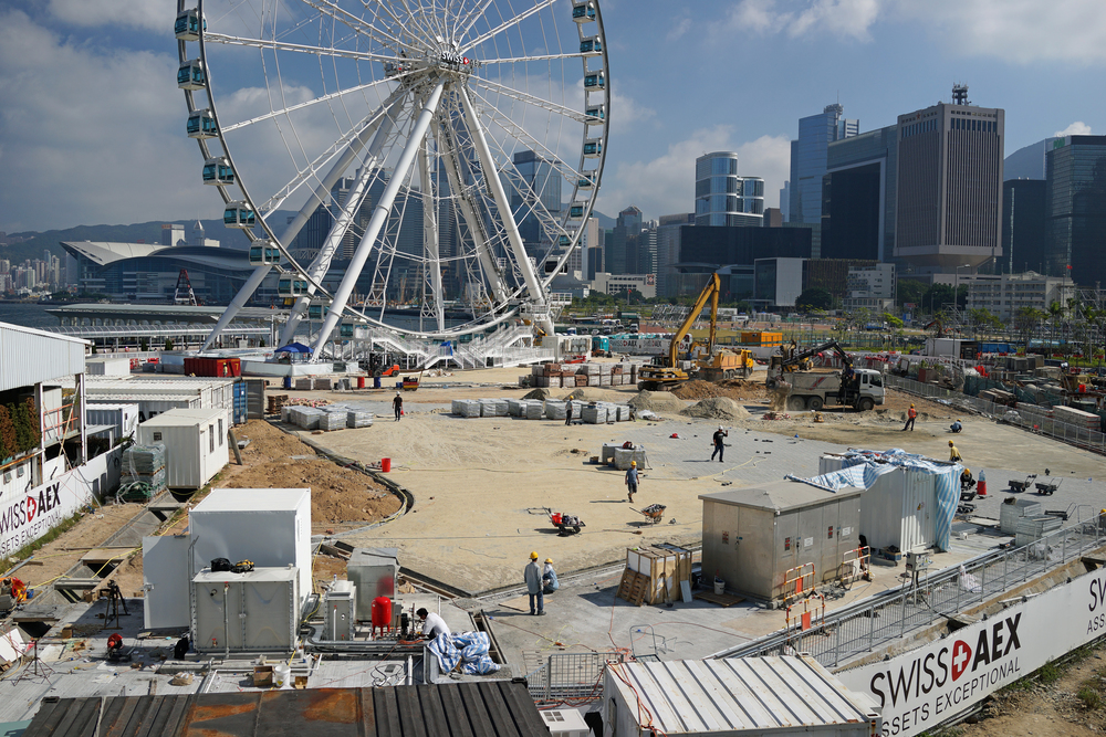 The Hong Kong Eye / The Hong Kong Wheel / The Giant Hamster Wheel - whatever you want to call it, it is still NOT open.....