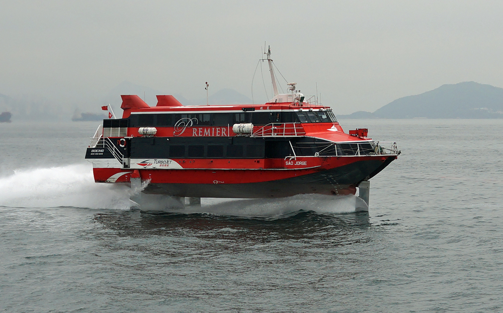 I just love these hydrofoils that are on the speed run to Macau.