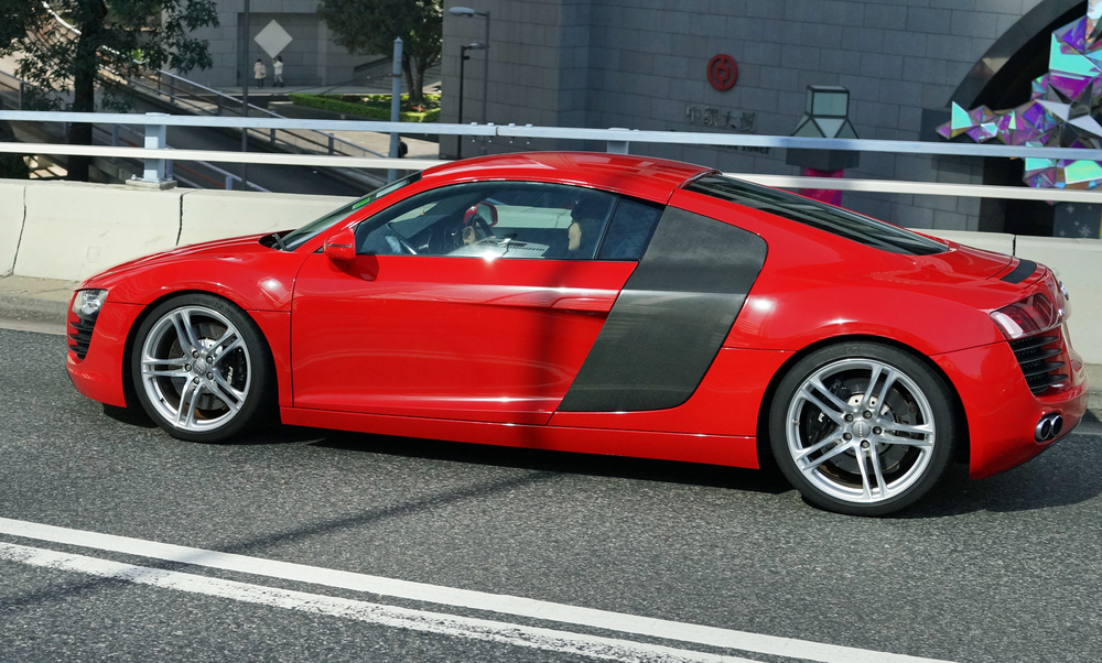 The amazing Audi R8 although I have to admit I do not like this colour for this car - it looks fabulous in burnt orange!