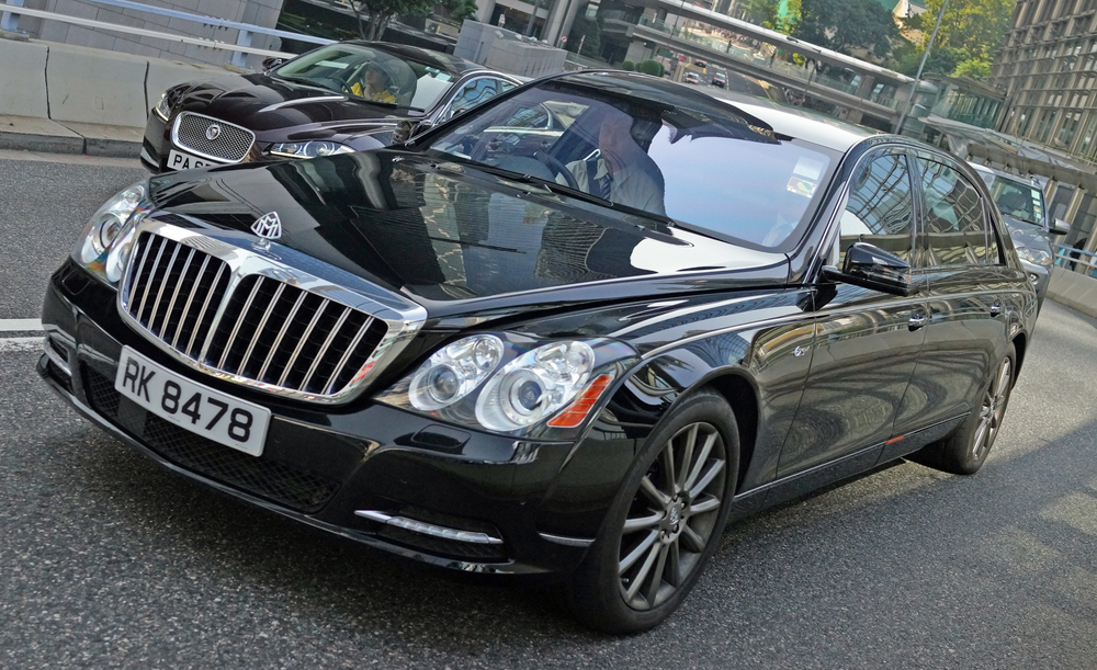 The Maybach is a monster, the biggest luxury car in the world and it is making a comeback after Mercedes stopped making it a few years ago.. favoured by the billionaires here...