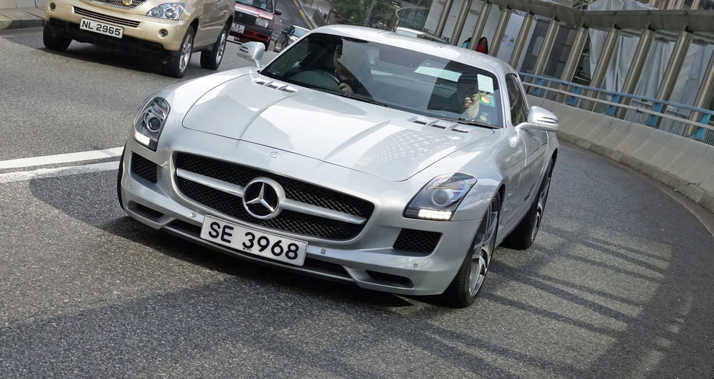 Oh yes, the Mercedes SLS, probably my favourite model, ultra cool