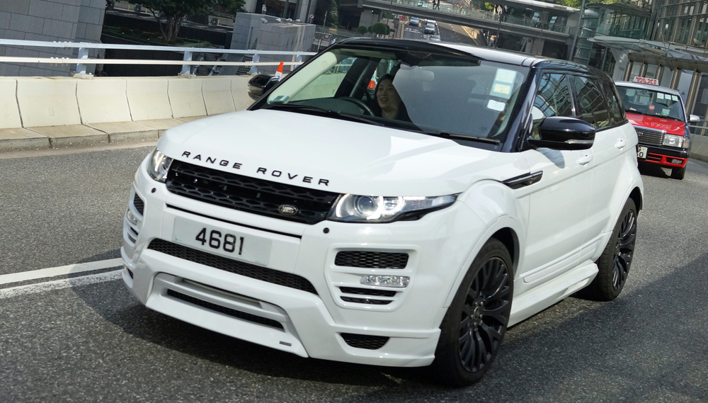 A seriously pimped out Range Rover.
