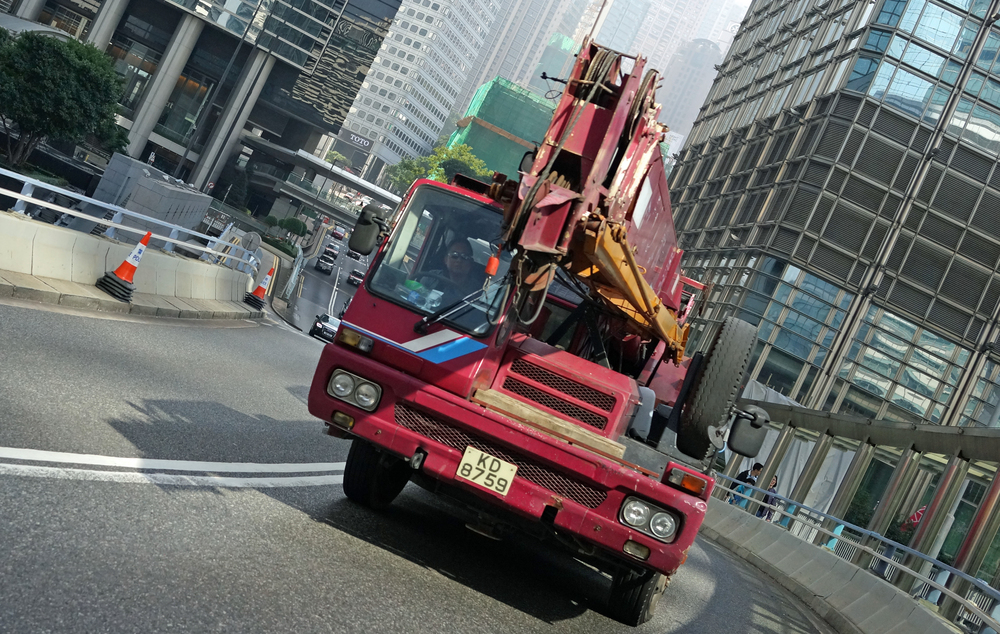 I am often amazed at the number of huge trucks that travel all manner of roads in Hong Kong and I am amazed that there are not a lot more accidents...