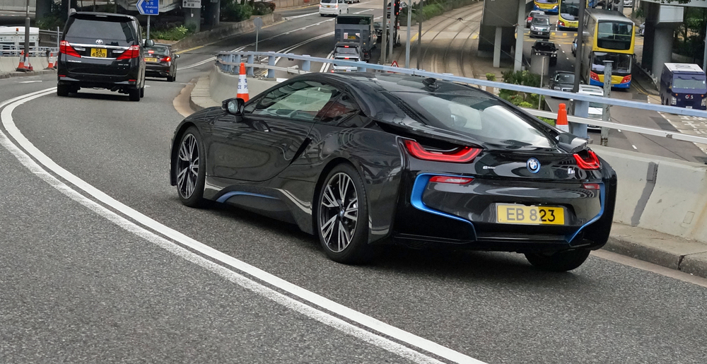 This is NOT a Tesla, this is the brilliant BMW i8.. an all electric car which is streets ahead of the Tesla in my book. It is simply unbelievable just how popular the Tesla has become in Hong Kong (the sedan Model S, not the crappy little sports car).
