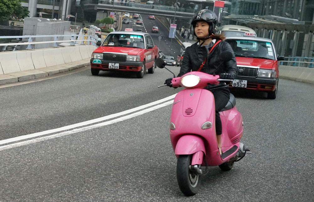 My favourite scooter lady, the Pink Panther.