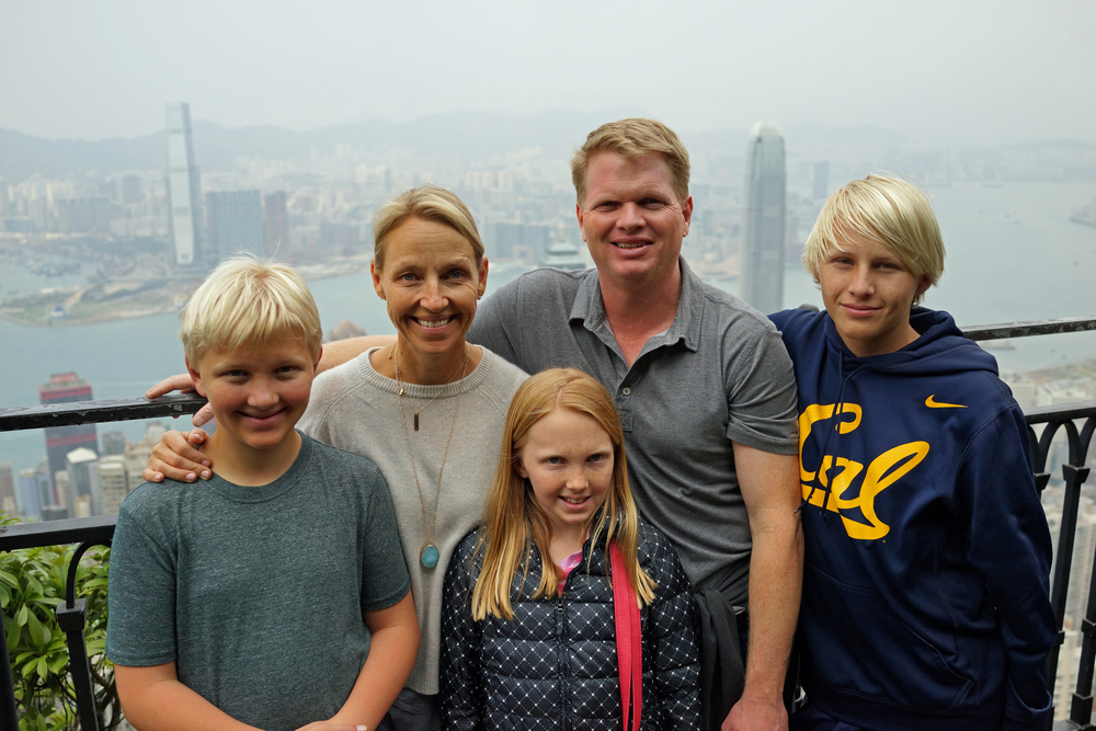 Meet the Archers - they enjoyed the magnificent views of Hong Kong from my spot at the Peak