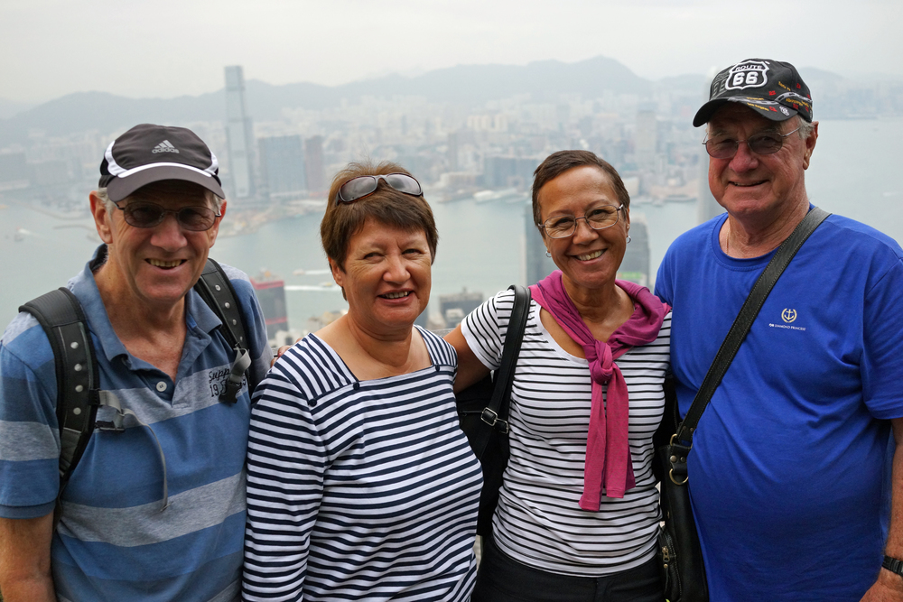 Meet, Trevor, Sharleen, Lynne and Ian from Western Australia enjoying the awesome views from my spot at the Peak