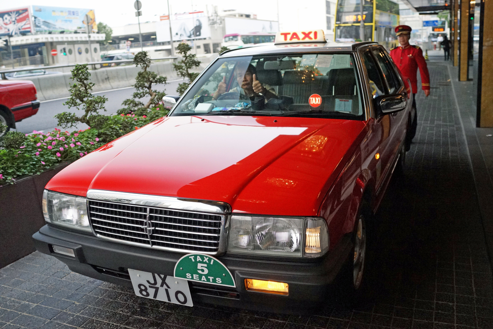 This is a brand new Nissan Cedric taxi which we had the pleasure of riding in, the majority of Hong Kong's 18,500 taxi fleet is comprised of the simply horrible Toyota Crown, so for me it was a thrill to go in such a rare taxi.