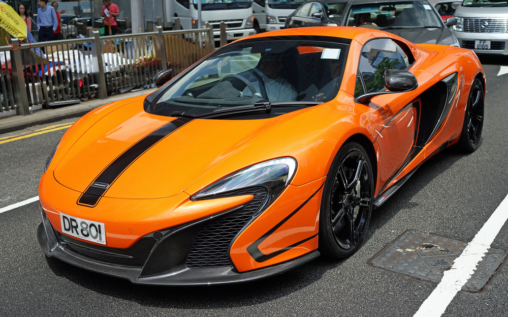 Talk about a traffic stopper - people in cars and people crossing the road where gawking at this quite remarkable car, a McLaren... oh my...