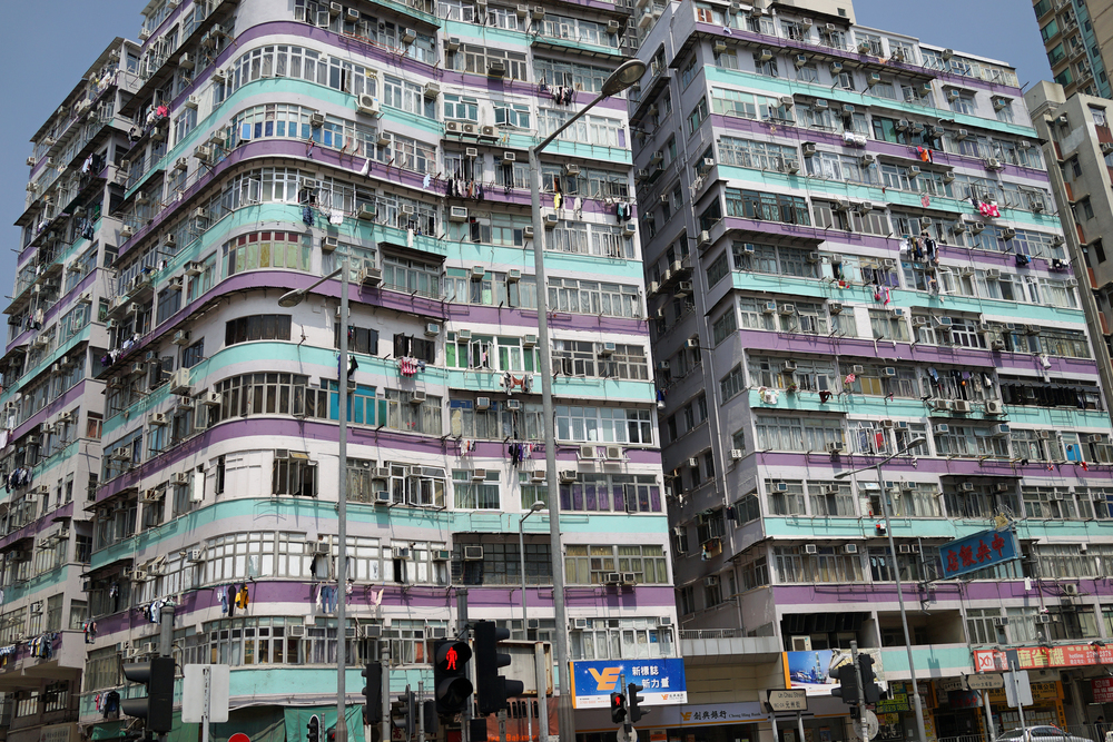 A fairly typical apartment block in Sham Shui Po in Kowloon, one of the poorest neighbourhoods in Hong Kong. -  go here for all of my Sham Shui Po images