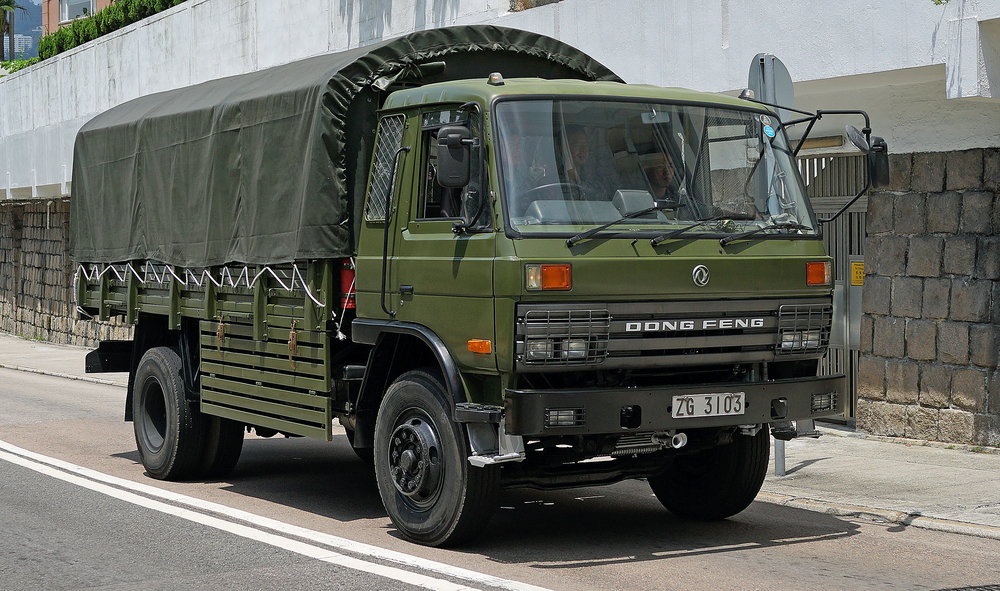 Every now and then on the south side of Hong Kong Island you will see Chinese Army Trucks trundling around, I spotted this one opposite the Hong Kong Country Club. -
