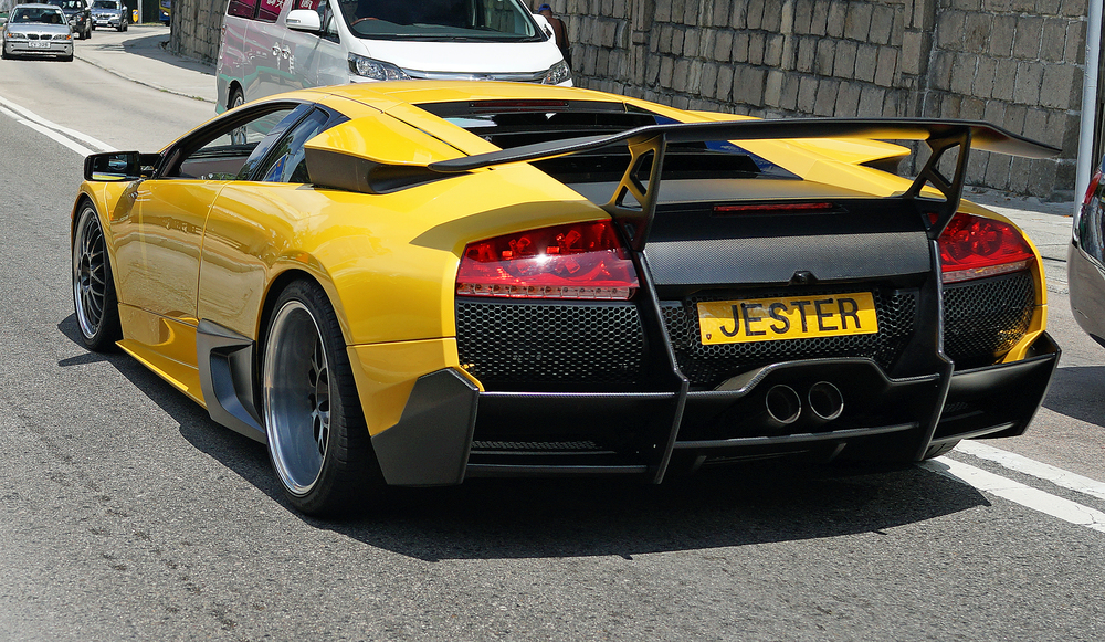 Lamborghini - JESTER  / An older model Lamborghini with a great number plate, holy smoke! -  go here for my favourite car number plate images in Hong Kong