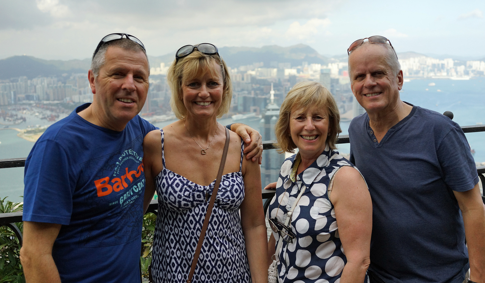 Judy, Jenny, Peter and Paul enjoying the rather splendid views from my spot at the Peak