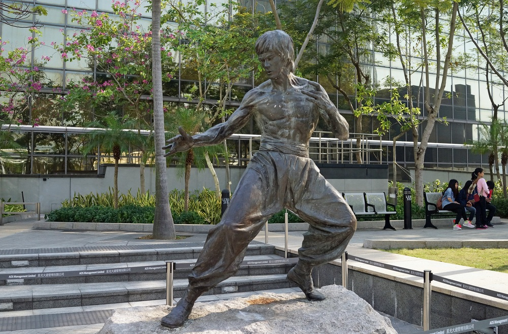 The Avenue of Stars has closed for 3 years so Bruce Lee has moved to the Garden of Stars about a minutes walk from the Kowloon Shangri La Hotel on Mody Road