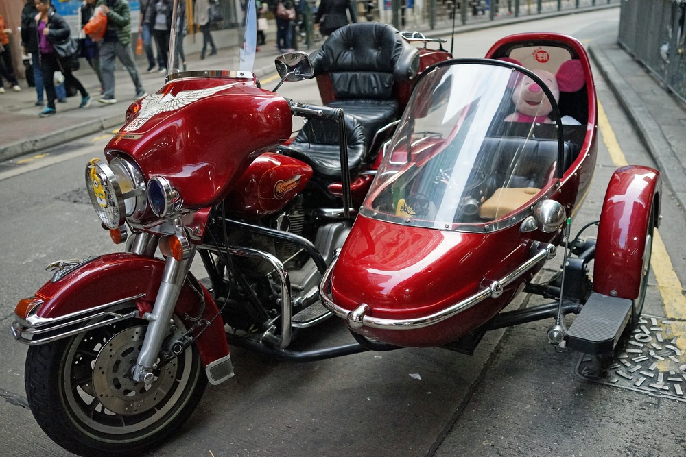 Not a motorbike you see everyday in Hong Kong - Harley Davidson! -  go here for all of my Hong Kong motorbike images