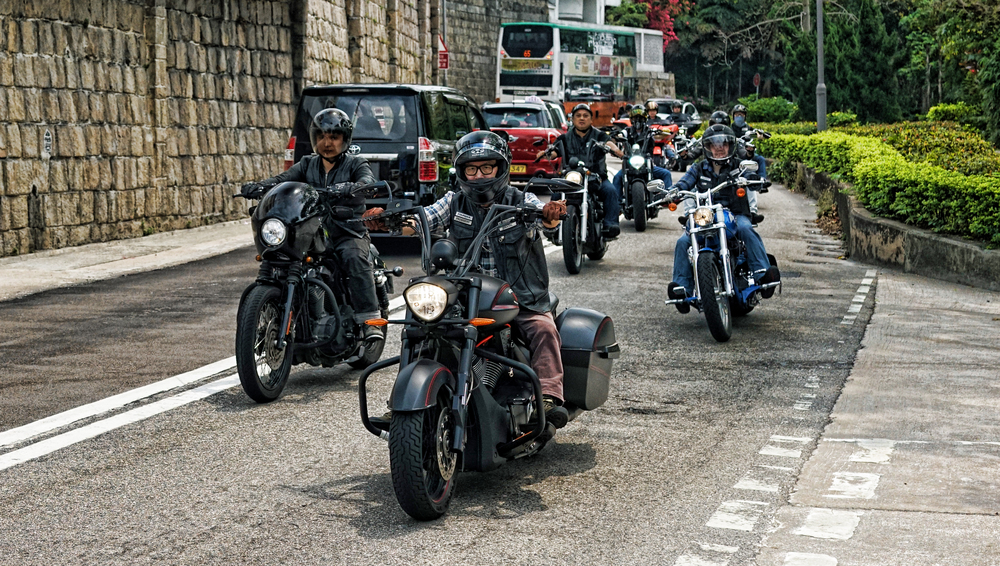 We seem to have quite a few Harley Davidson Motorbike Clubs in Hong Kong, pretty cool dudes! -  go here for all of my Hong Kong Motorbike images