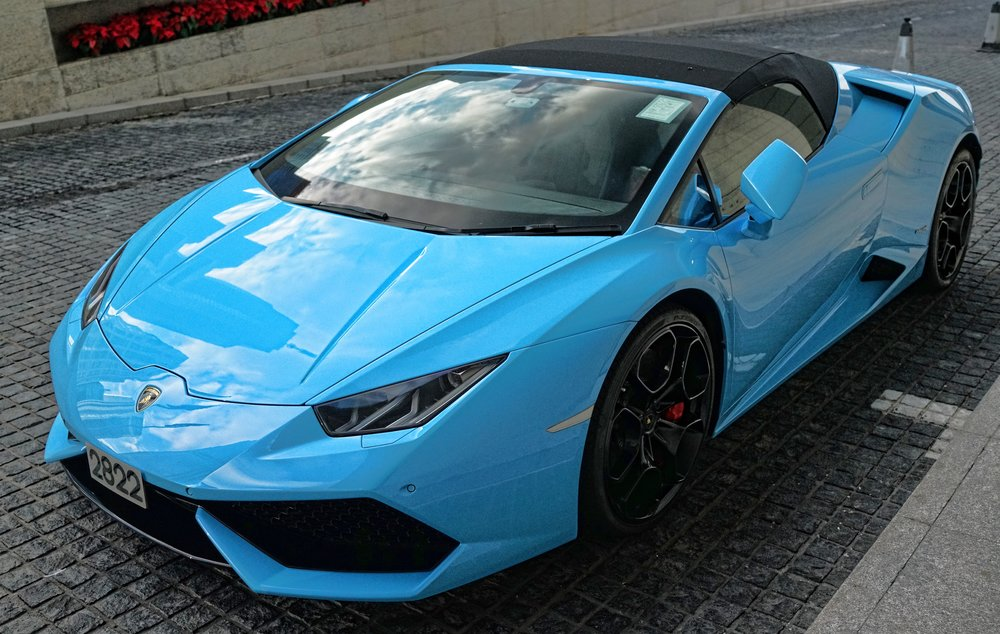 Fast forward to November 2016 and the car has changed to this magnificent blue Lamborghini.. probably a graduation present as he is quite a young man!! not a bad upgrade at all.