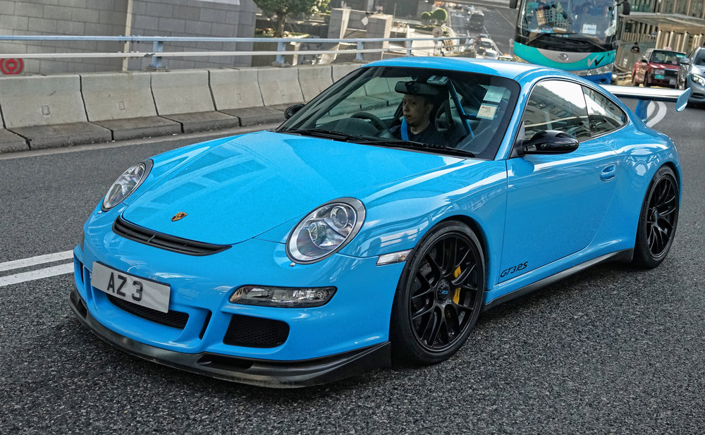 One of my favourite Porsches in Hong Kong, it is a GT3 RS and belongs to Arthur, Arthur has a blast in this car! wow! -  go here for all of my Porsche cars in Hong Kong images