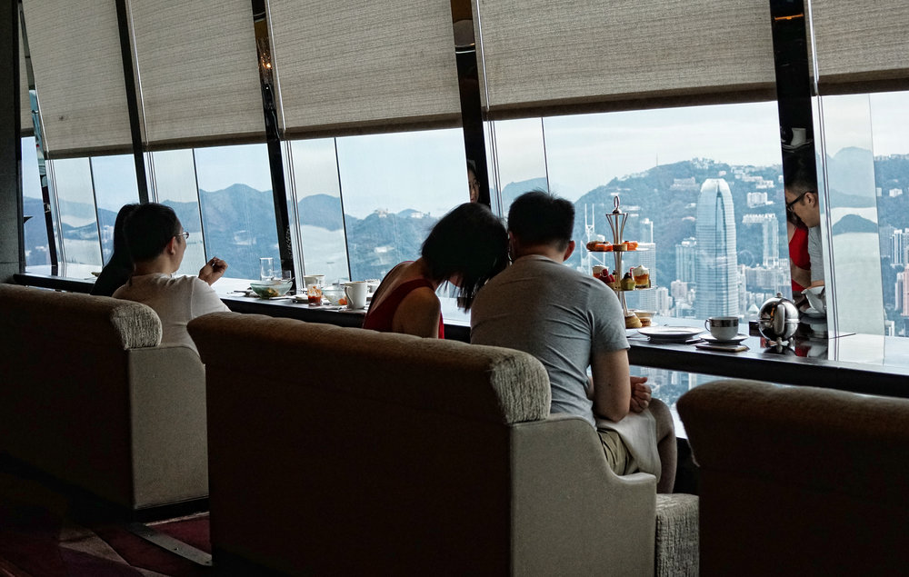 Whilst I personally prefer to have afternoon tea in the Peninsula Hotel it is frankly hard to argue with the views from the 102nd Floor in the Ritz Carlton Hotel, simply amazing and the food is pretty darn good as well! -  go here for all of my Ritz Carlton Hotel images in Hong Kong