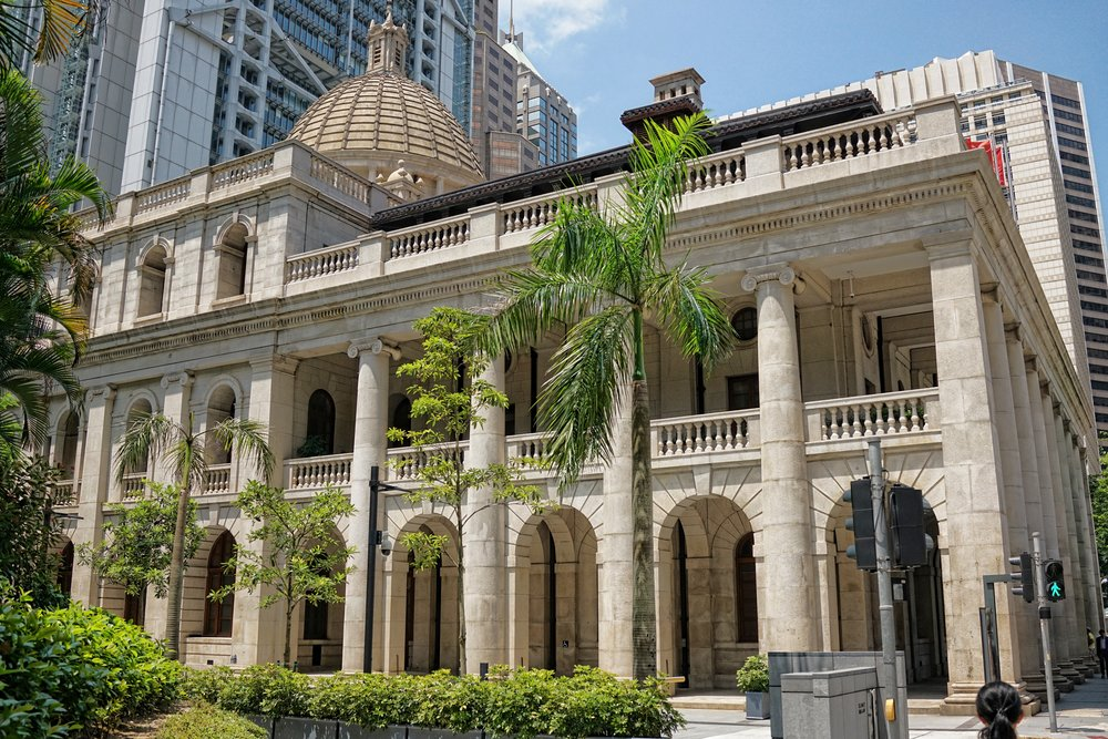 One of the few old colonial buildings left in Hong Kong, the Court of Final Appeal