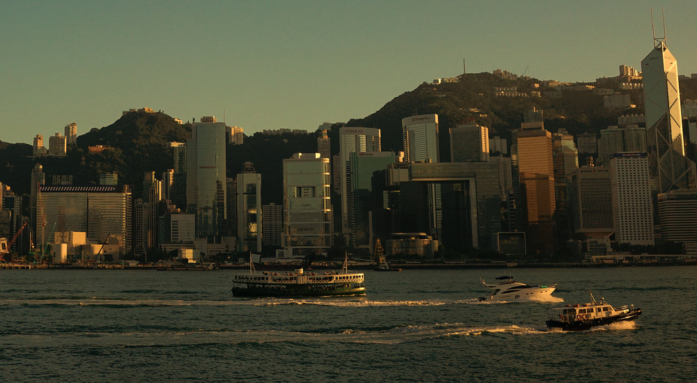 Not a bad view eh! looking towards Hong Kong Island from Kowloon
