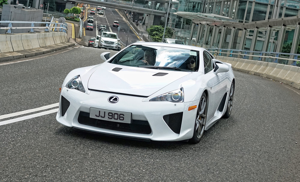 I quite like the new Lexus LFA shown here, I am not a huge fan of Japanese cars but they do have a few classics! -  go here for images of classic Japanese sports cars in Hong Kong