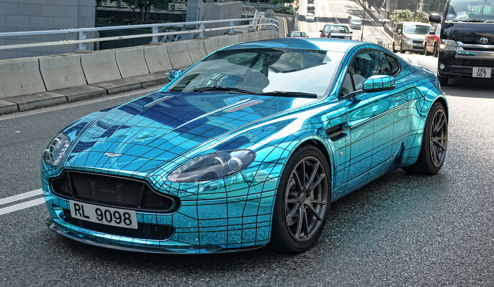 Holy moly.... it is right up there with the Spiderman McLaren in the oddity stakes, this Aston Martin is a real head turner.