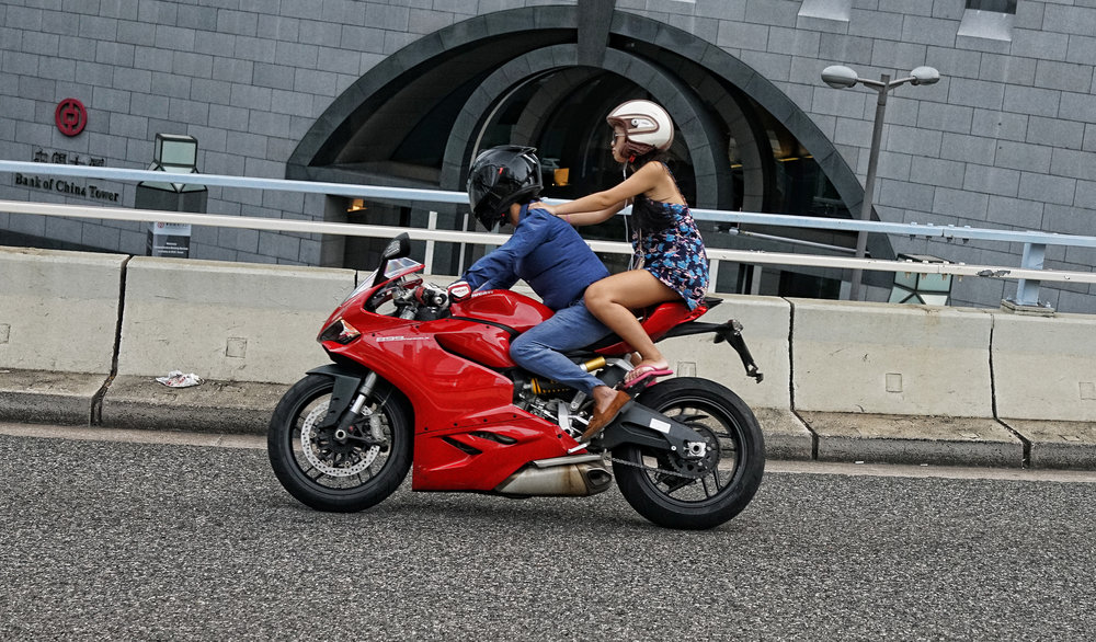 More than a little crazy, not the safest way to travel -  go here for all of my motorbikes in Hong Kong images