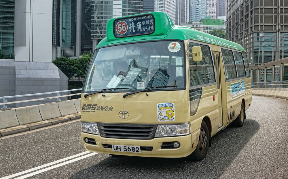 The 16 seater green top mini bus, iconic Hong Kong transport!