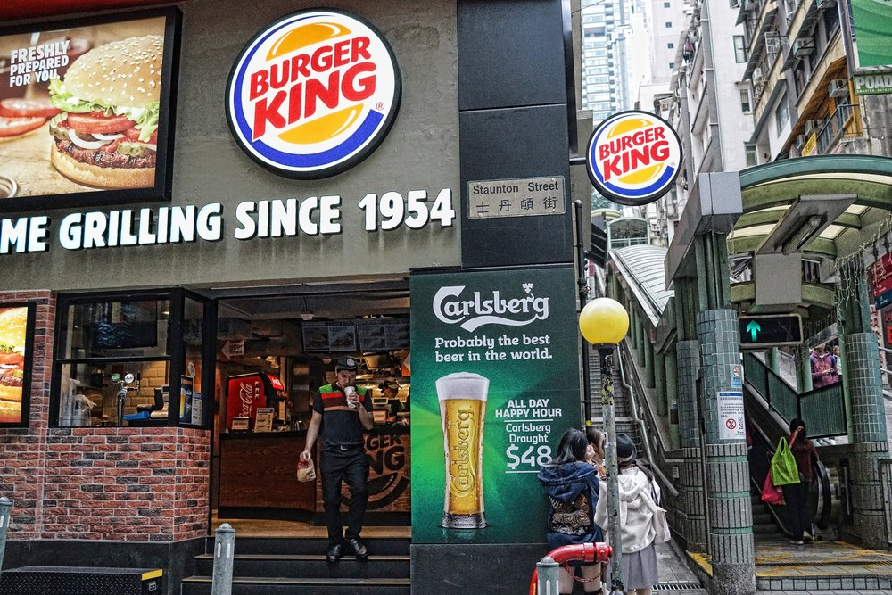 Burger King and Carlsberg! the newly opened fast food outlet is a hit in SOHO!
