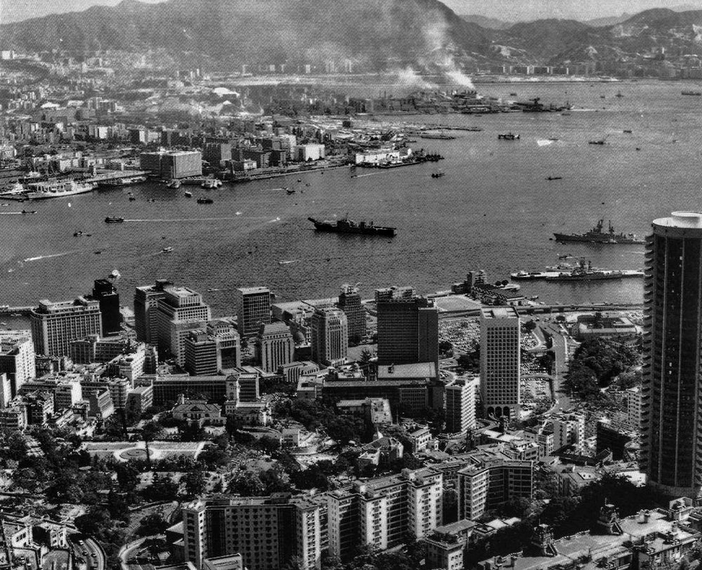 Hong Kong 1972, from the Peak and boy did it look different... I arrived in Hong Kong on January 11th 1972 from Yorkshire in England and I am still here 45 years later. I live in one of the most amazing cities in the world.  - go here for all of my images taken at the Peak in Hong Kong