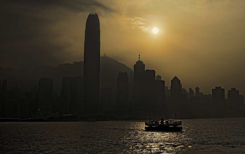 One of my better Star Ferry images, late afternoon on a hazy sunny day and it was the only vessel in the shot.   Go here for all of my Star Ferry images taken in Hong Kong.