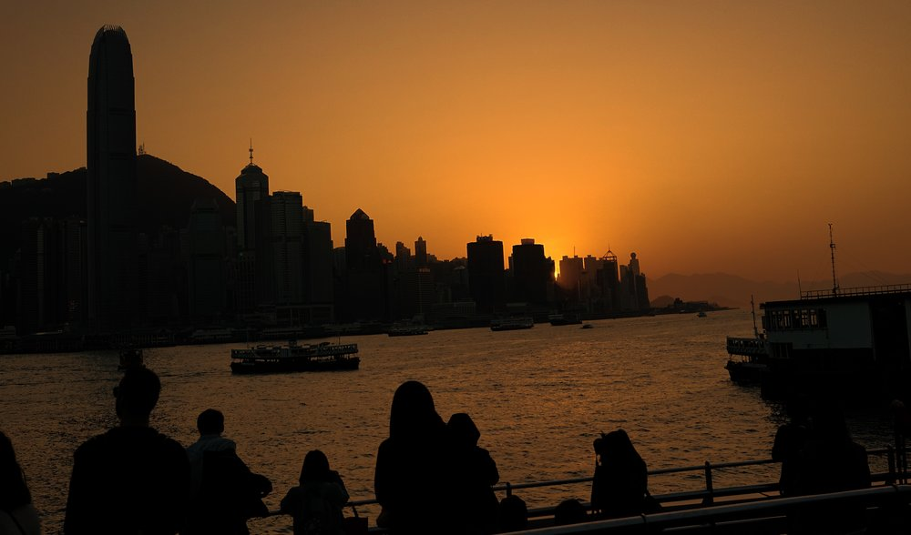 Sometimes a Hong Kong sunset is a real treat, this one is taken from Kowloon looking across to Hong Kong Island.