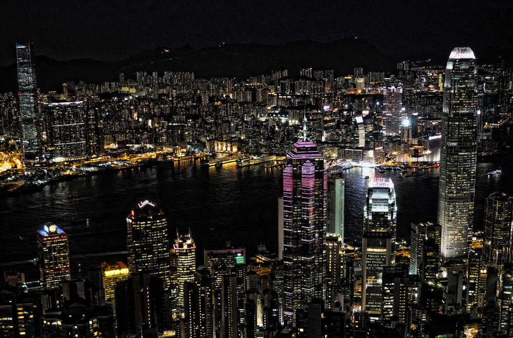 Hong Kong Night Tour -  Another absolutely magnificent night view from my spot at the Peak, it can send a shiver down your spine.