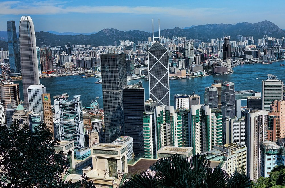 Hong Kong Shore Excursion -  This is NOT my spot at the Peak but is is my 2nd favourite spot, it is a lovely view isn't it!