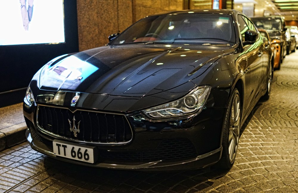 The Devil's new ride, this awesome Maserati - the no. 666 is a very popular number in Hong Kong as it is considered a very lucky number (basic translation is easy life) so easy life x 3 and of course 3 x 6 = 18 which means certain wealth..  Book a private tour of Hong Kong with me and we will delve into the world of Chinese lucky numbers (and unlucky numbers!)